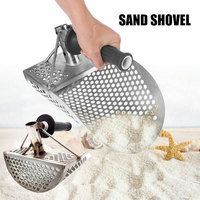 Hot Beach Sand Scoop Shovel Hunting Tool Stainless Steel Accessories for Metal Detector PLD