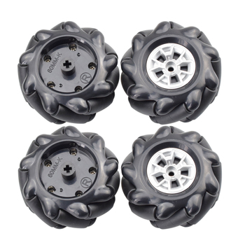 2020 HOT 60mm High Hardness Plastic Mecanum Wheel with LEGOs Hubs Omni-directional Tires for Arduino Microbit  Robot Toy Parts 50mm double roller layers plastic omini track bearing conveyor transfer line robot omni directional skate wheel