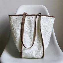 Casual Lady's Personality Design Splicing Canvas Bag 2021 New Korean Fashion Large-capacity One-shoulder Underarm Handbag