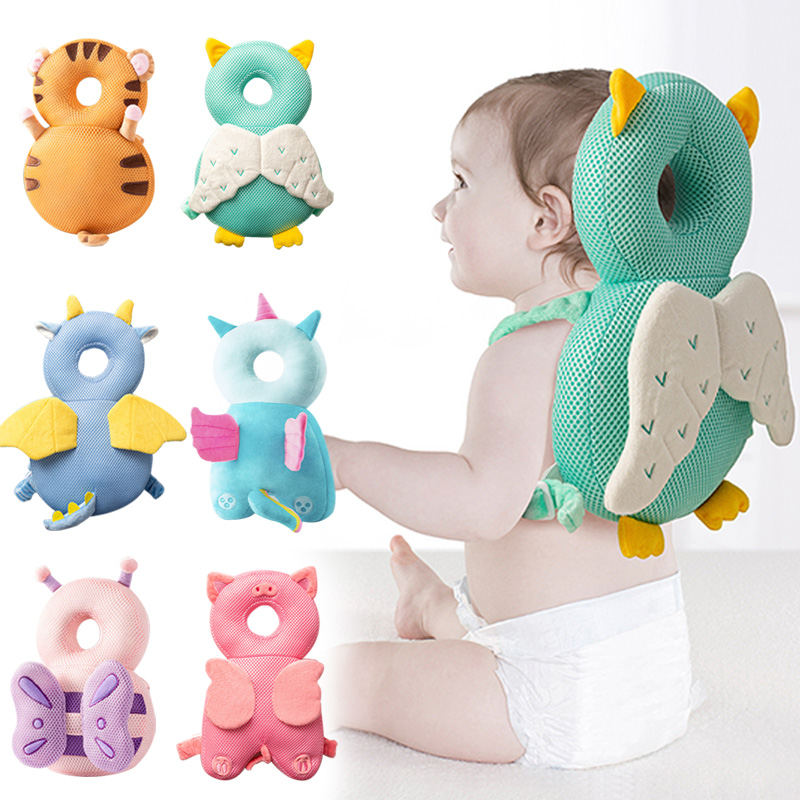 1 3T Toddler Baby Head Protector Safety Pad Cushion Back Prevent Injured Angel Bee Cartoon Security Pillows