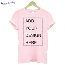 Tops Tees Clothing Casual t-Shirt Your-Own-Design Custom Logo/picture Women Brand Short-Sleeve