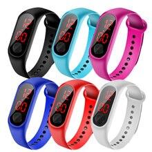 Часы светодиодные цифровые водонепроницаемые для мальчиков и