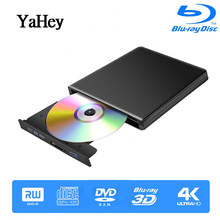 Bluray Burner Writer BD-RW USB 3.0 External DVD Drive Portatil Blu ray Player CD/DVD RW Optical Drive for hp Laptops(China)