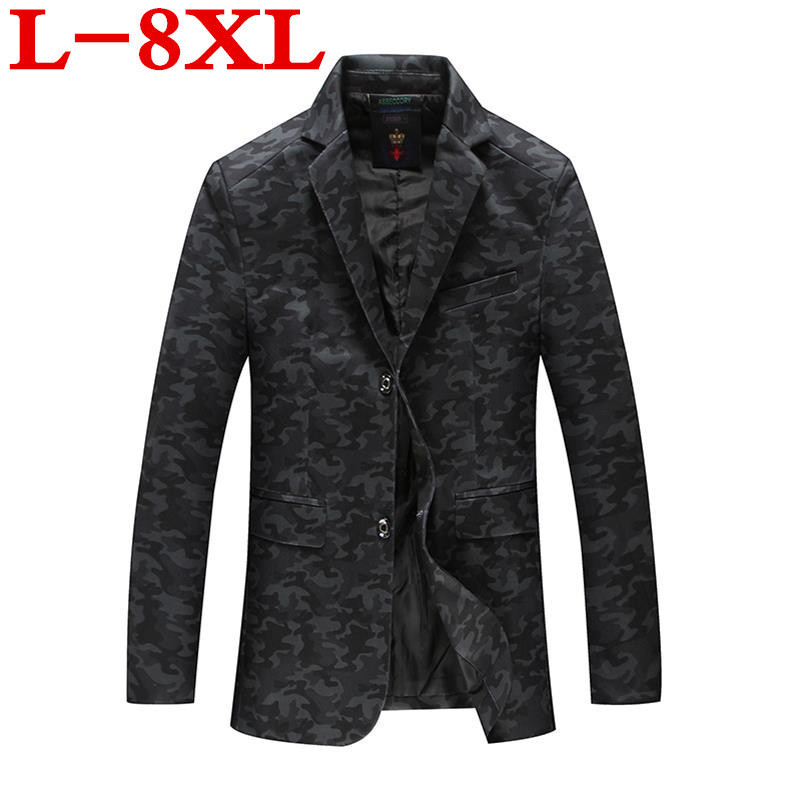 Plus Size 8XL 7XL 6XL Black Blazer Men  Wedding Suit Jacket Slim Fit Stylish Costumes Stage Wear For Singer Mens Blazers Designs