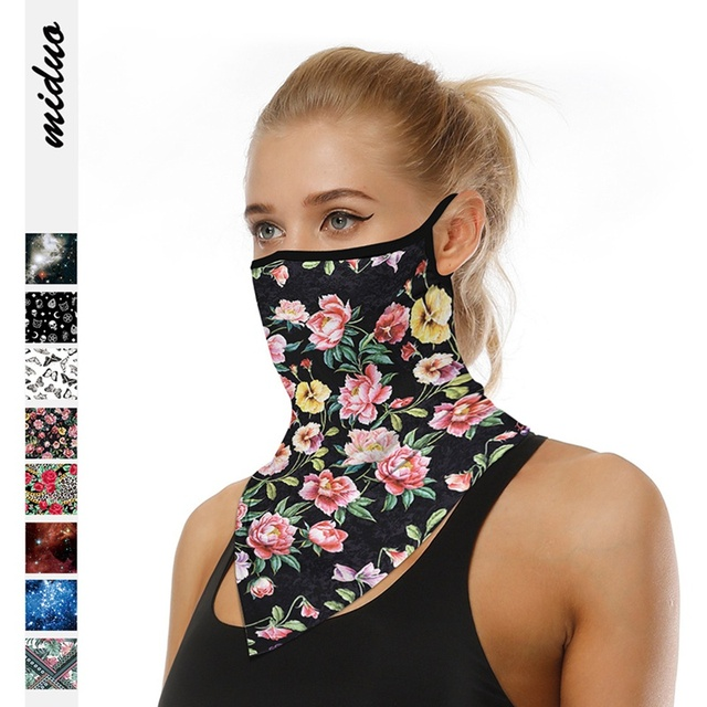 Outdoor Riding Triangle Scarf Sunscreen Breathable Mask Magic Turban Digital Printing Men And Women Models Women's Men's Hood 3
