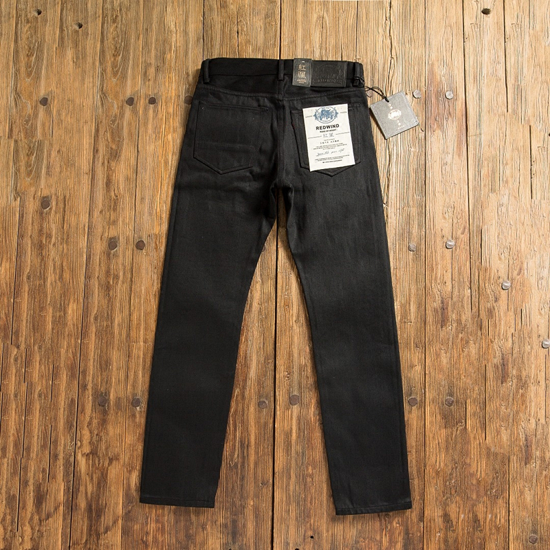 GT511 Read Description! Raw Indigo Selvage Unwashed Denim Slim Pants Unsanforised Raw Denim Jean 14.5oz 2 Colours For Choices