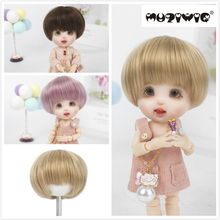 1/12 BJD&Kurhn doll wig soft fiber Bob Hair for 12cm diameter doll