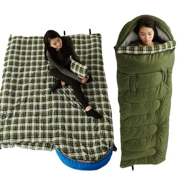 Outdoors Sleeping Bag Poratable Lightweight Waterproof Cotton Sleeping Bag for Camping Hiking