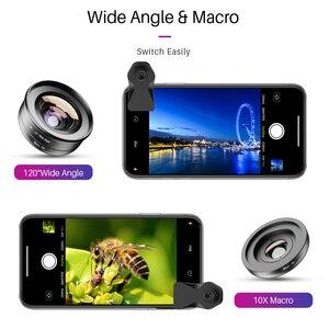 Image 3 - APEXEL HD 2in1 10X Super Macro e obiettivo angolare a 120 gradi per telefono cellulare fotografia per iPhone Xiaomi Samsung tutti gli smartphone