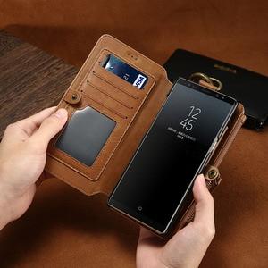 Image 2 - Funda de teléfono de cuero para Samsung Galaxy S20 Ultra S10 E S9 S8 Plus S7 S6 Edge, BILLETERA, funda de tarjeta para Samsung Note 20 10 9 8 5