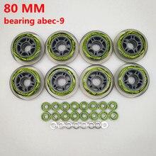 O envio gratuito de 80mm rolo roda de skate inline roda de skate 80mm 78 a 82 a