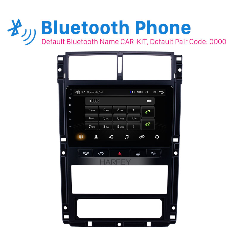 Harfey Auto 9 Navi Android 8.1 Auto Radio Gps Head Unit Voor Peugeot 405 Audio Navi Autostereo Ondersteuning Carplay achteruitrijcamera OBD2 - 2