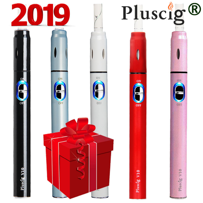 iqo Electronic Cigarette Pluscig V10 charged Vape Pen Kits 900mAh up to 15 continuous smokable compatible with iquos stick e cig