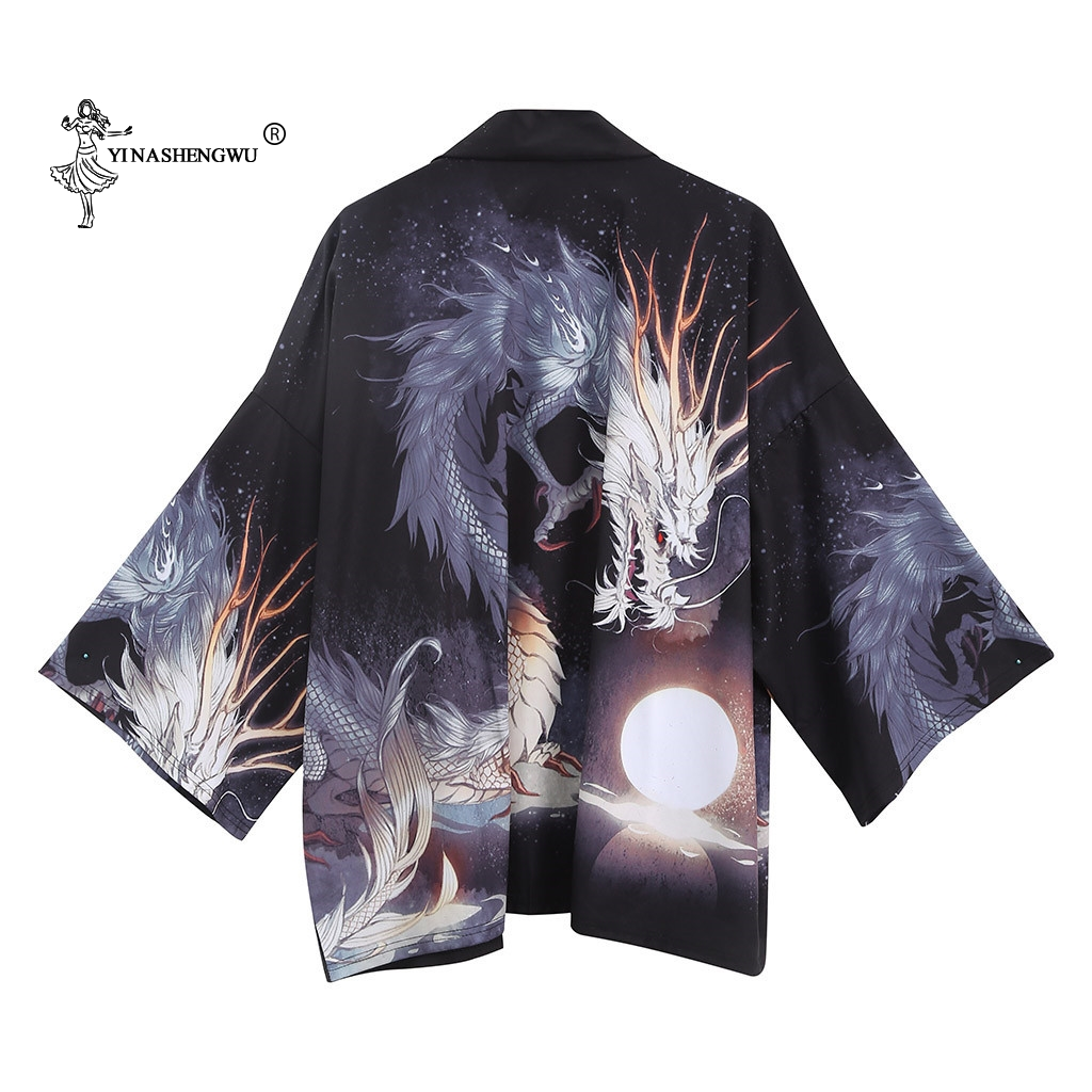 Kimonos Cardigan Men Japanese Kimono Traditional Print Yukata Men Women Femme Coat Kimono Cosplay Costumes Couple Leisure Shirts