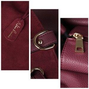 Image 4 - حقيبة يد نسائية من جلد الغزال الطبيعي مقسمة من نيكو لويز ، حقيبة يد نسائية كبيرة بمقبض علوي للترفيه حقيبة كتف عبر الجسم كاجوال
