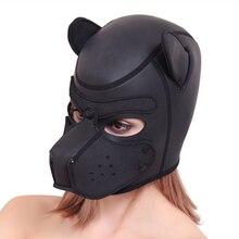 Erotic Toys Bondage Mask Slave BDSM Head Hood Half Enclosed Fun Puppy Cosplay He