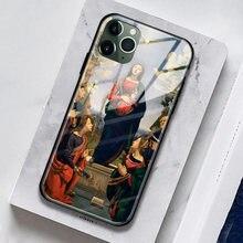 A encarnação de jesus e os santos vidro macio silicone caso do telefone para o iphone se 6s 7 8 plus x xr xs 11 pro max capa escudo