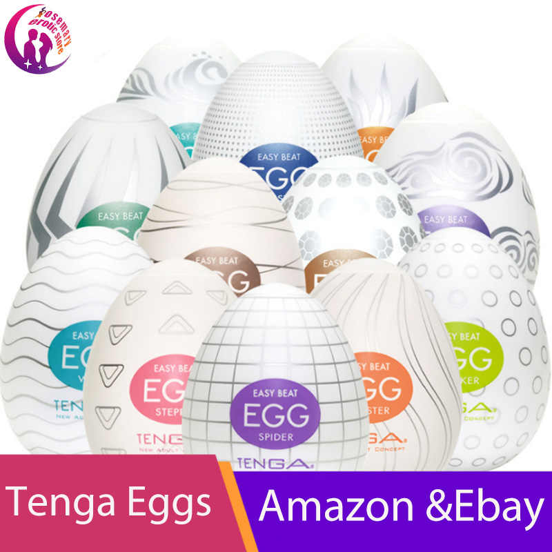 Masturbators Original Tenga EGG Japan Men Portable G-spot Stimulator Massager Pleasure Device For Men Masturbation Sex Toy