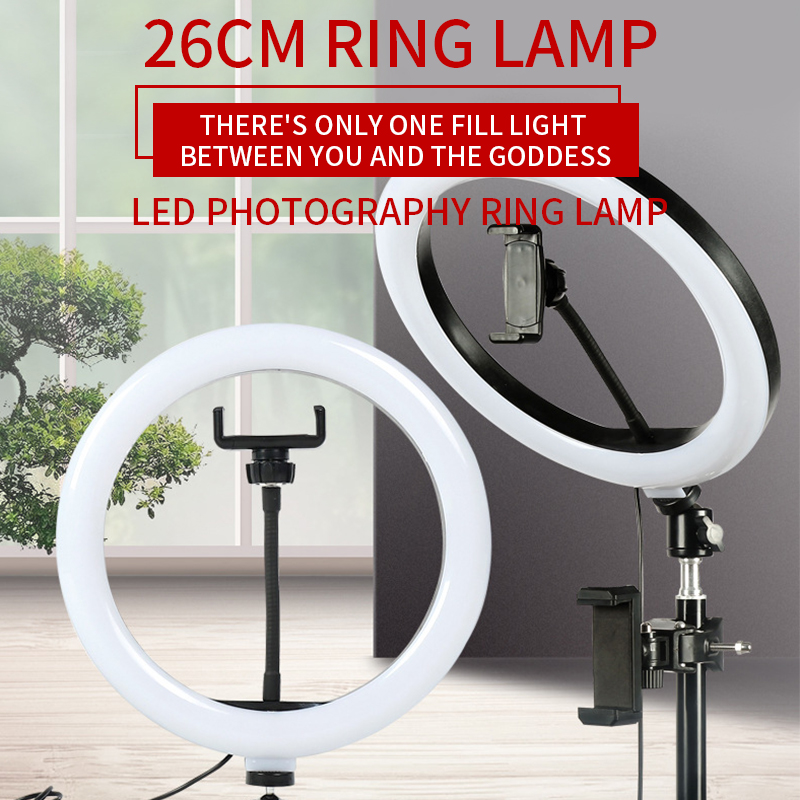 Photography Ring Light with Tripod Stand Rotable Selfie Makeup Ringlight 3 Light Modes for tiktok Video only lamp