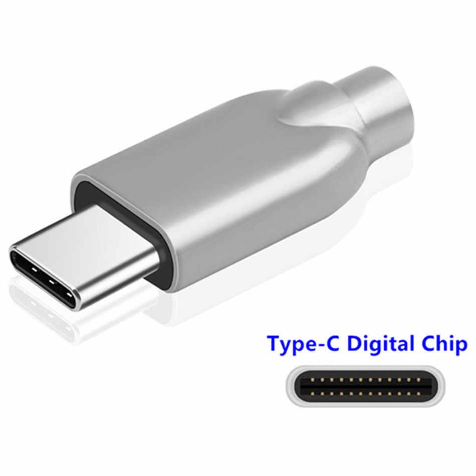 Złącze USB C z chipem ALC4042 312bit 384khz stop metali dynamiczna armatura 4.3mm średnica drutu type-c mężczyzna DIY moduł lutowniczy