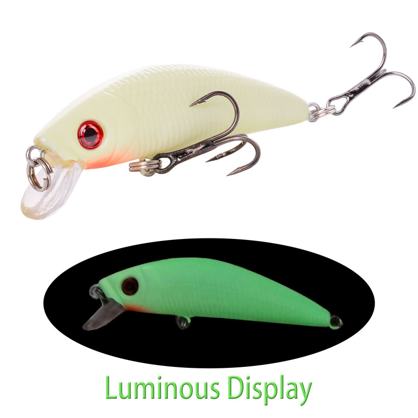 Aorace Minnow Fishing Lure 70mm 8g 3D Eyes Crankbait wobbler Artificial Plastic Hard Bait Fishing Tackle 1