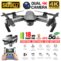 RC Quadcopter SG907 Drone GPS 4K HD 50X Zoom Wide Angle Dual Camera 5G WIFI FPV Foldable Selfie Drones Professional Follow Me