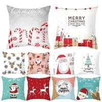 QIFU Cartoon Santa Claus Snowman Christmas Pillowcase Christmas Decor for Home Xmas Gifts Natal Navidad 2019 Happy New Year 2020