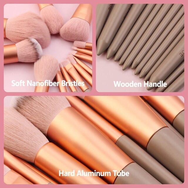 MAANGE Pro 4/13Pcs Makeup Brushes Set  Face Eye Shadow Foundation Powder Eyeliner Eyelash Lip Make Up Brush Beauty Tool with Bag 5