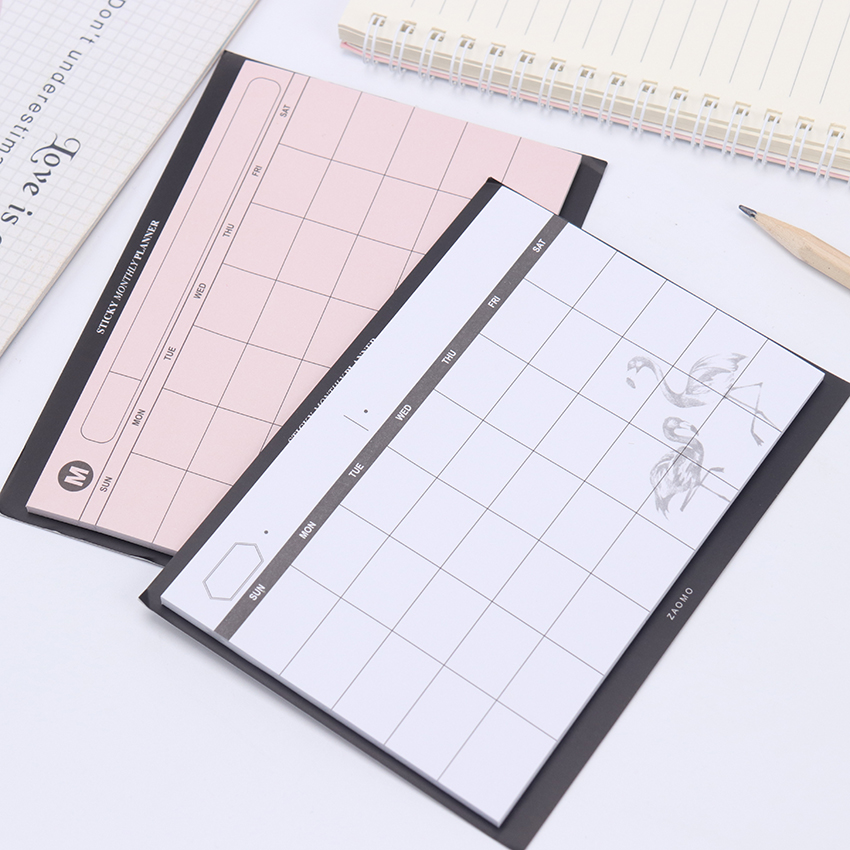 1PC/30 Sheets Creative Simple Weekly Planner Book Desktop Schedule Month Plan Tear The Notebook Office Summary Plan 2