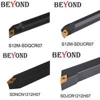Além de 4 pces 12mm ferramentas de corte torno s12m sducr sdjcr 1212 sdncnn sdqcr cnc torneamento ferramenta titular carboneto inserções dcmt070204 dcmt Ferr. torneam.     -
