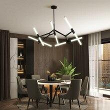 Moderno led lustre de teto iluminação sala estar quarto restaurante lustres várias cabeças criativo casa luminária