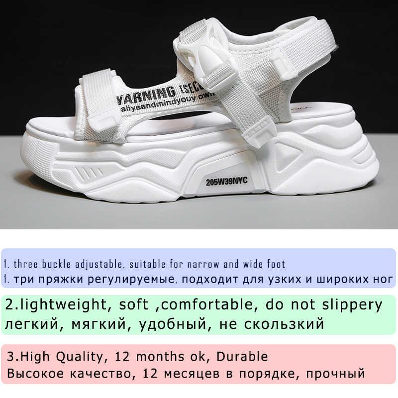 Fujin Giày Sandal Nữ Giày Đáy Dày Thoáng Khí Nữ 2020 Trượt Thời Trang Giày Đế Xuồng Nữ Xăng Đan Mùa Hè
