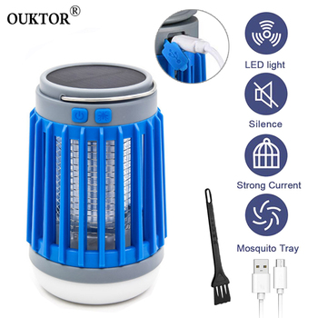 3 in1 LED Solar Power Mosquito Killer Lamp USB Insect Bug Outdoor Repellent Light Trap Camping