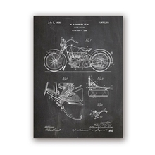 Poster Aesthetic Vintage Blueprint Canvas Painting Room-Decor Artwork Prints-Picture