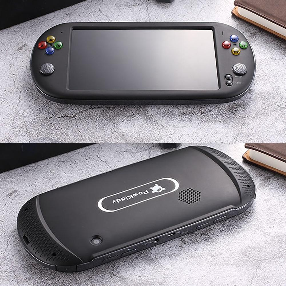 X16 7 Inch Retro Classic Game Console Handheld Portable 1300 Built-in Games Color Screen Display Game Machine Player