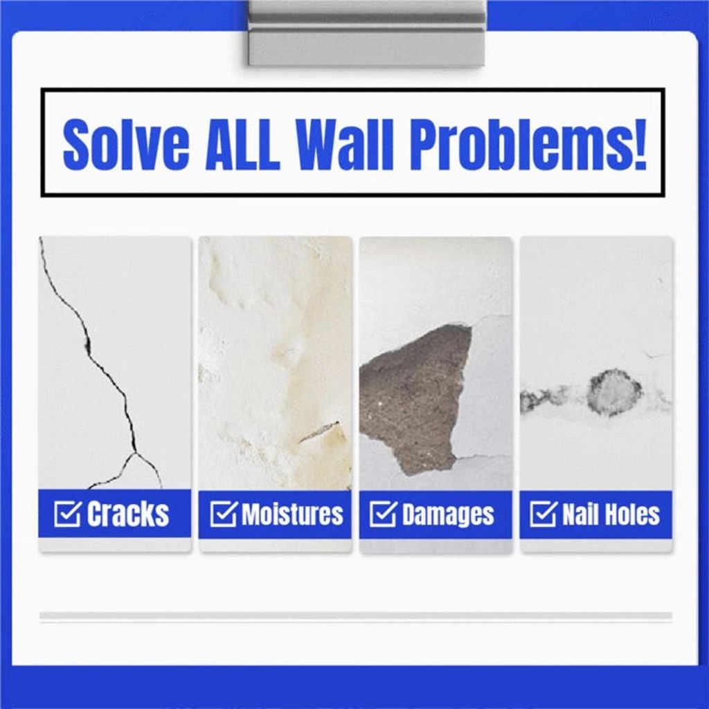 Magic White Latex Paint Wall Repair Cream Mending Ointment Household Hole Sealant Disappear Waterproof Scrape Coating  Repair