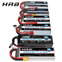 HRB-batería Lipo 2S 3S 4S 6S, 11,1 v, 2200mah, 22,2 v, 6000mah, 1300mah, 1500mah, 2600mah, 3300mah, 4000mah, enchufe decanos de XT60-T