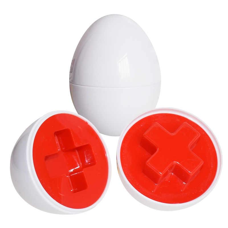 1/3/6 stücke Smart Eier 3D Kluge Puzzle Montessori Lernen Bildung Math Spielzeug Für Kinder Beliebte Spielzeug Jigsaw Gemischt form Werkzeuge
