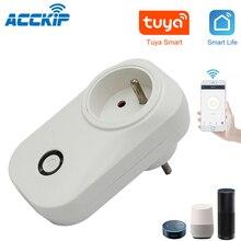 ACCKIP Premio Connectée WiFi 16A Mini Smart Plug Fonctionne tramite Android iOS Alexa Google Casa Adattatore di Spina con Monitor di Energia