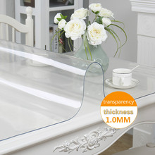 PVC Transparent Waterproof Tablecloth Soft glass Thickness 1.0mm Frosted Coffee Dining Wedding Party Kitchen Mat