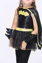 Girls Superhero Carnival Cosplay Costume Kids Deluxe Muscle Dark Knight Batman Child Halloween Party Fancy Dress