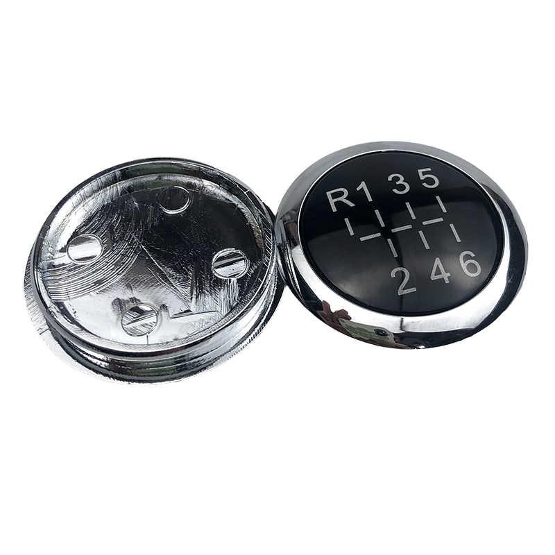 5/6 vitesse noir voiture accessoires levier de vitesse bouton emblème insigne garniture bouchon couvercle supérieur pour VAUXHALL OPEL ASTRA III H CORSA D 2004-2010