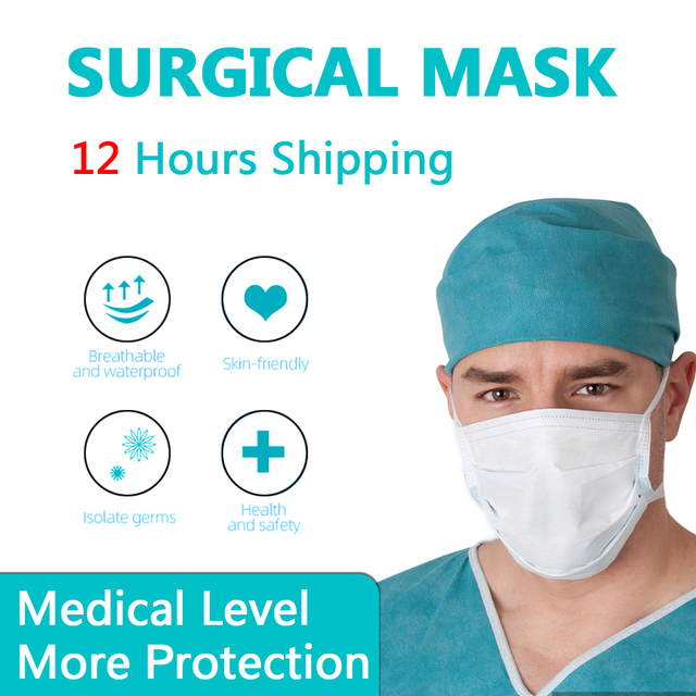 50/100pcs Disposable Face Mouth Mask Anti Virus Medical Mask 3 Layer Non-woven Bacteria Proof Flu Facial Safety Masks
