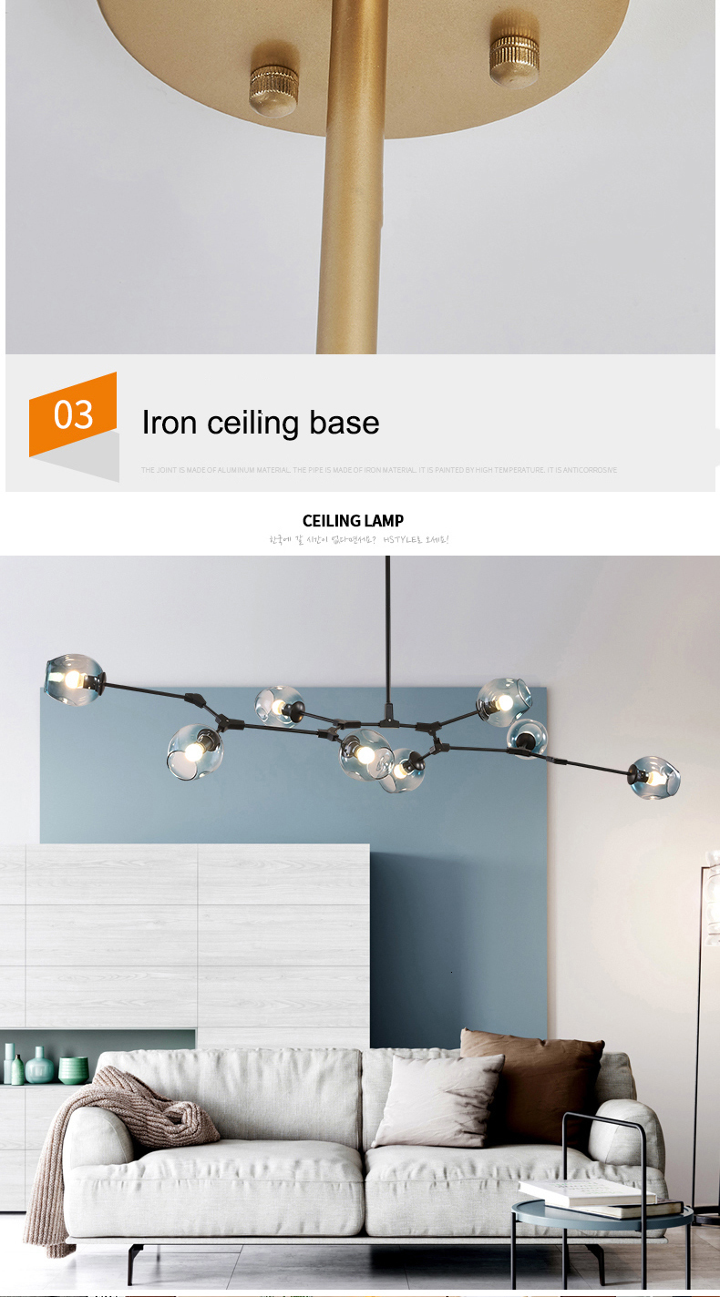 H5925360017d845b9b9d87841c3f1010f8 MDWELL Nordic lamp Ceiling Lights for living room lights Retro Loft vintage Hanging Suspension luminaire led light ceiling Lamp