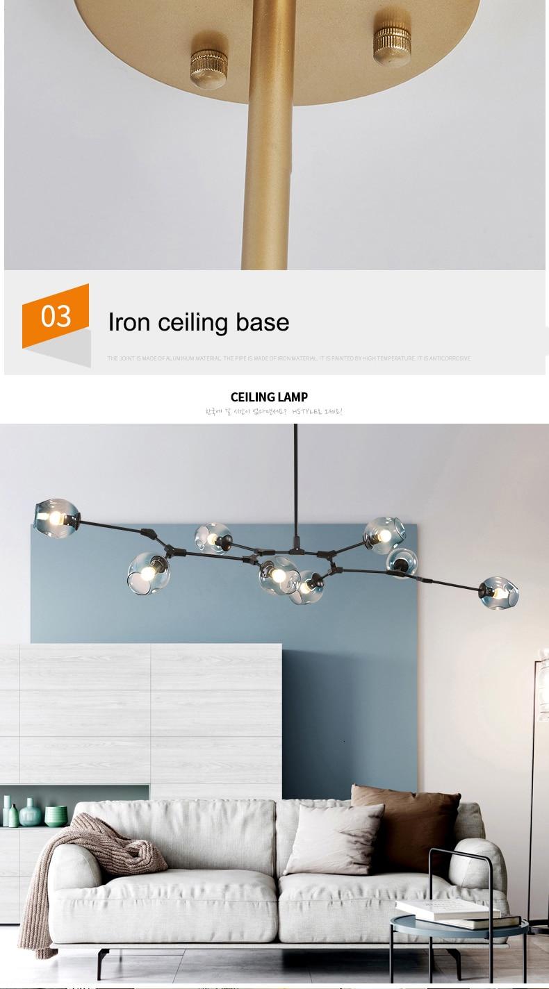 H5925360017d845b9b9d87841c3f1010f8 MDWELL Nordic lamp Ceiling Lights for living room lights Retro Loft vintage Hanging Suspension luminaire led light ceiling Lamp