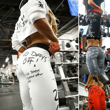 CINESSD Printed Letter Leggings Digital High Elastic Fashion Yoga Pants Women Sport Fitness 4 Colors Brand