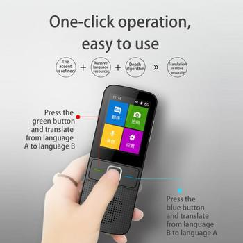 Portable Translator Fashion 2.4 inch Display Extra Long Standby 137 Multi-Languages WiFi Instant Smart Voice Translator
