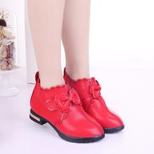 2019 New Girls Shoes Autumn Winter Princess Bow Red Children Kids Fashion Boots B144
