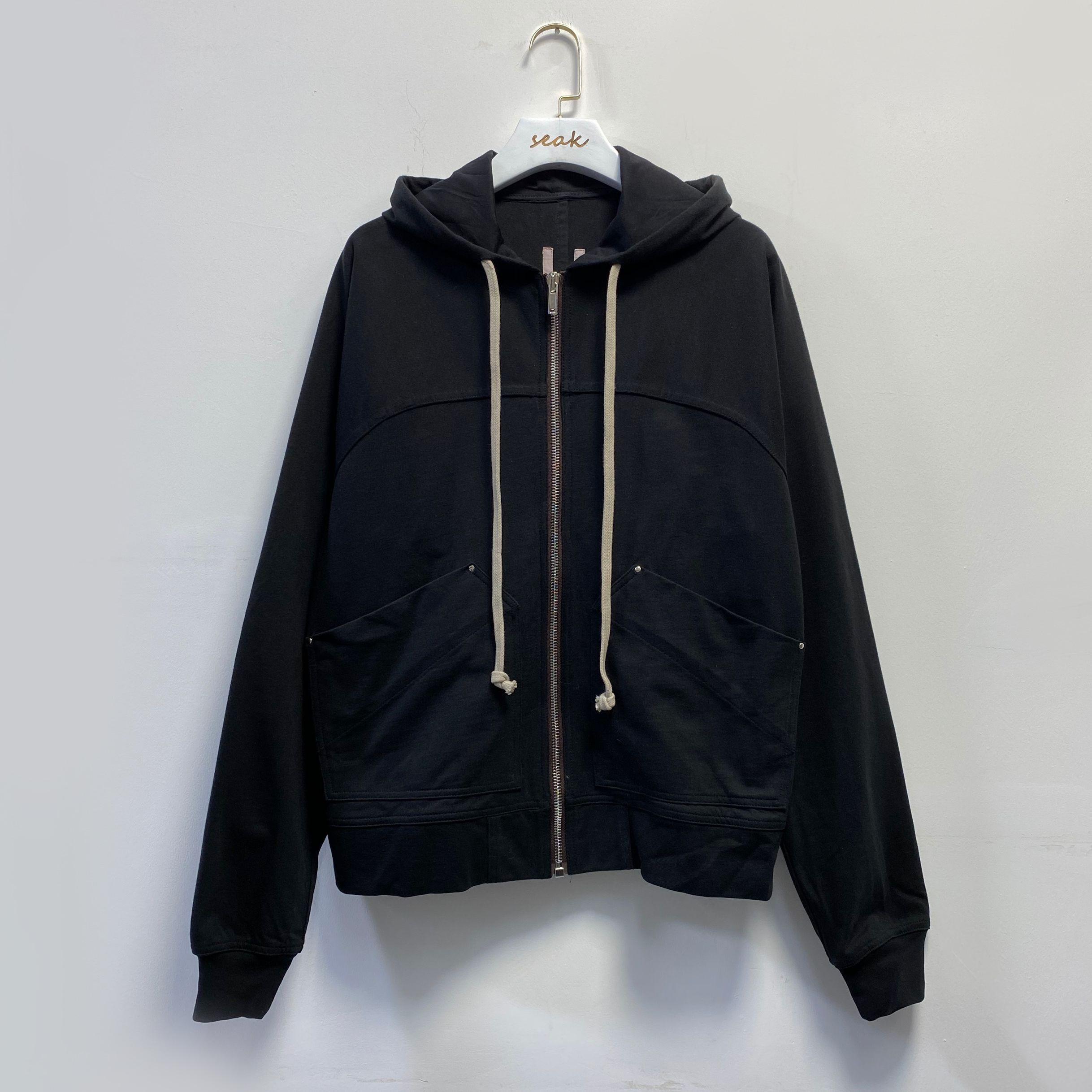 Owen Seak Men Cotton Hoodies Sweatshirts Gothic Men's Clothing Oversized Autumn High Street Hip Hop Women Black Zip Coat Jacket