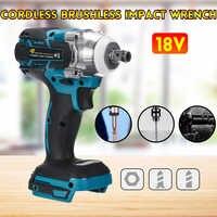 18V Brushless Elettrico Impact Wrench Ricaricabile 1/2 Socket Wrench Strumento di Potere Senza Fili Senza Batteria e accessori